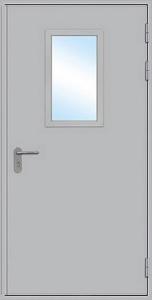 Дверь Стальная со Стеклопакетом Эконом 8