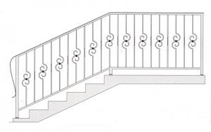 Лестничные перила ПРЛ 2002