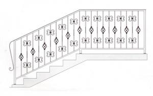 Лестничные перила ПРЛ 2023