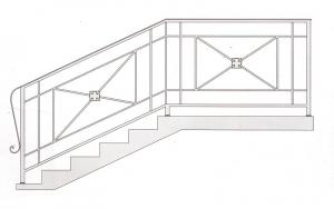 Лестничные перила ПРЛ 2032