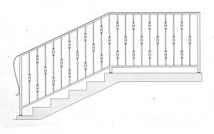 Лестничные перила ПРЛ 2045