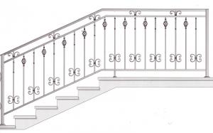 Лестничные перила ПРЛ 2046