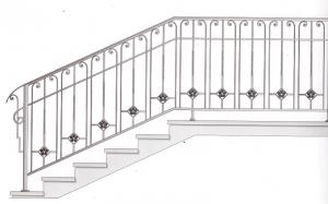 Лестничные перила ПРЛ 2056