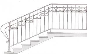 Лестничные перила ПРЛ 2060