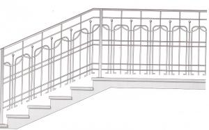 Лестничные перила ПРЛ 2061