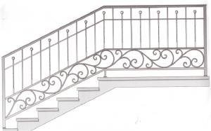 Лестничные перила ПРЛ 2062