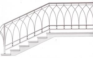 Лестничные перила ПРЛ 2063