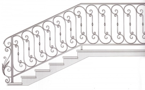 Лестничные перила ПРЛ 2069
