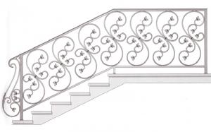Лестничные перила ПРЛ 2071