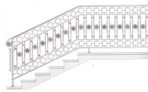 Лестничные перила ПРЛ 2081