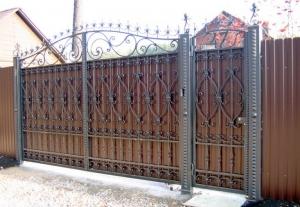 Распашные Кованые Ворота ВРТ 0003
