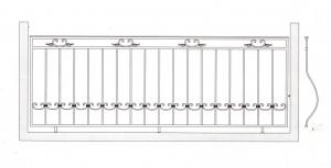 Балконное ограждение ПРЛ 3001