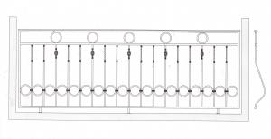 Балконное ограждение ПРЛ 3002