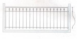 Балконное ограждение ПРЛ 3003