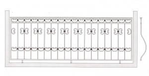 Балконное ограждение ПРЛ 3004