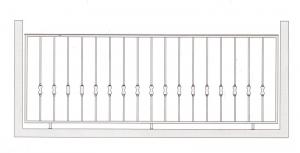 Балконное ограждение ПРЛ 3005