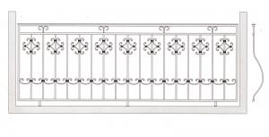 Балконное ограждение ПРЛ 3006