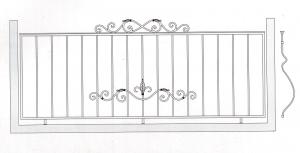 Балконное ограждение ПРЛ 3007