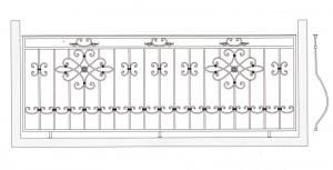 Балконное ограждение ПРЛ 3008