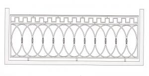 Балконное ограждение ПРЛ 3015