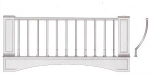 Балконное ограждение ПРЛ 3017