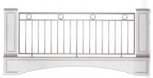 Балконное ограждение ПРЛ 3018