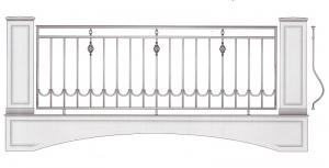 Балконное ограждение ПРЛ 3019