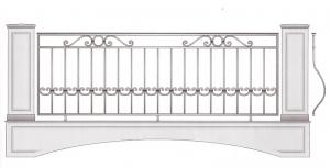 Балконное ограждение ПРЛ 3021