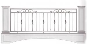 Балконное ограждение ПРЛ 3022