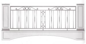 Балконное ограждение ПРЛ 3024