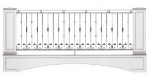 Балконное ограждение ПРЛ 3025