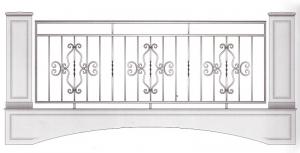 Балконное ограждение ПРЛ 3026