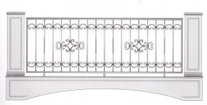 Балконное ограждение ПРЛ 3027