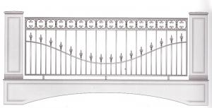 Балконное ограждение ПРЛ 3028