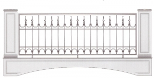 Балконное ограждение ПРЛ 3029