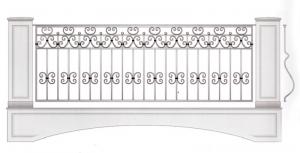 Балконное ограждение ПРЛ 3030