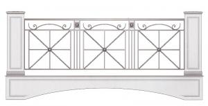 Балконное ограждение ПРЛ 3031