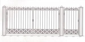 Распашные Ворота ВРТ 5004
