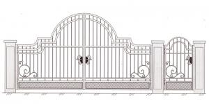 Распашные Ворота ВРТ 5013
