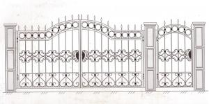 Распашные Ворота ВРТ 5014