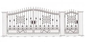 Распашные Ворота ВРТ 5015