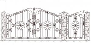 Распашные Ворота ВРТ 5017